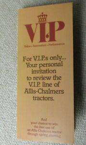 Allis-Chalmers 8070 tractor VIP invitation card brochure