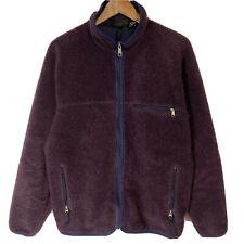 Vtg 2008 Patagonia Retro X Cardigan Deep Pile Fleece Men's Large L Purple USA