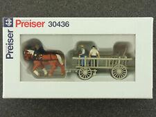 Preiser 30436 Pferdegespann Leiterwagen Landwirtschaft  OVP 1603-01-66