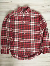 Polo By Ralph Lauren Mens/Boys Size 20 Flannel Shirt Plaid Cotton Long Sleeve