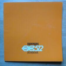 FERRARI BB512 BERLINETTA BOXER original 1980 Large Format Sales Brochure #200/80