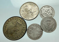 GROUP LOT of 5 Old SILVER Europe or Other WORLD Coins for your COLLECTION i75642
