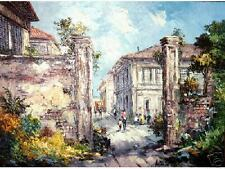 Old Vigan 2 18x24 Art Philippines Oil Painting