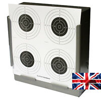 100 - 170gsm Card Air Rifle Four Circle Targets 14cm ( Pistol shooting airsoft