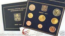 2014 8 monete fdc 3,88 EURO VATICANO Vatican Vatikan Papa Francesco François