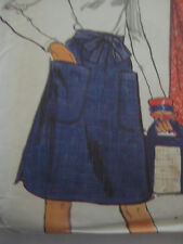 Vintage 80's Vogue 8815 BACK-WRAPPED A-LINE SKIRT Sewing Pattern Women Sz LARGE