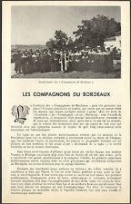 33 BORDEAUX LES VINS CONFRERIE LES COMPAGNONS DU BORDEAUX 1979