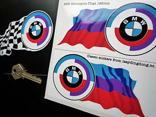 Bmw Gunsight roundel & Motorsport Color Bandera calcomanías 125 mm de carrera de coches Rally Csl