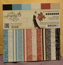 """2013 Graphic 45 Couture Fashion Patterns Vintage 6x6 6 x 6 6"""" Paper Pad NEW"""