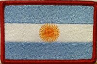 ARGENTINA Flag Patch with VELCRO® Brand fastener Biker Military Red Emblem #4