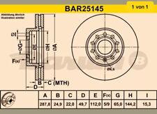 ORIGINAL BARUM BAR25145 Bremsscheiben Satz vorne Audi Seat Skoda
