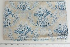 French Doll Toile Cherub Floral Rose Quilt Fabric Blue Yellow 2 yd Sharon Yenter