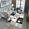 Non-Slip Area Rug Rubber Backing Rugs Door Mat,Modern checkered carpet,5x7'