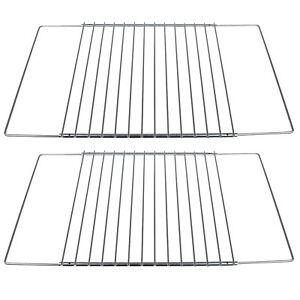 2x Universal Adjustable Oven Shelf Extendable Grill Cooker Fridge Rack Shelves