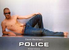 DAVID BECKHAM UK Police Sunglasses Promo Postcard *Manchester United DB7