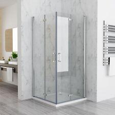90x90x185cm Duschkabine Eckeinstieg Duschwand Duschabtrennung Dusche NANO Glas