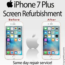 "Genuine iPhone 7+ Plus 5.5""  Glass Screen Digitiser Repair REFURBISHMENT Service"