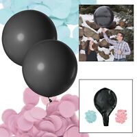 Large Plain Balloon Confetti Helium Latex Quality Gender Revel Baby Shower Party