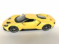 Maisto 2017 Ford GT Yellow 1:18 Scale Diecast Special Edition Model Car