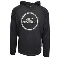 O'Neill Men's Weddle Light Weight Black/White L/S Pull Over Hoodie (Retail $50)