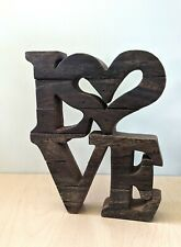 Love Word Rustic Wood Sign Decor Decorative Sign Freestanding Cutout