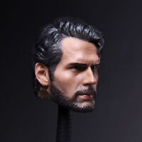 "1/6 Scale Superman Henry Cavill Carving Head Sculpt Model F 12"" Male Figure Body"