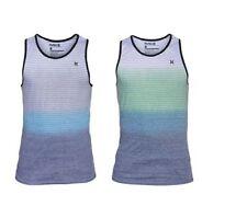 Crew Neck Basic Striped Sleeveless T-Shirts for Men