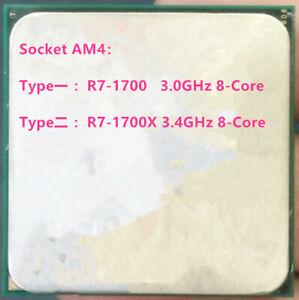 AMD Ryzen 7 R7-1700 R7-1700X 8-Core Sixteen-Thread Socket AM4 CPU