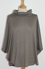 Cowl Neck Patternless Poncho Jumpers & Cardigans for Women