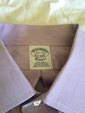 New BROOKS BROTHERS Mens 15.5 33 Lavender Non-Iron Supima Button-Down Shirt