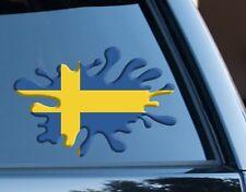 Sweden Splat fun Decal Sticker Car Van Laptop suit case Rugby Football Sport
