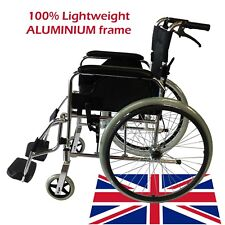 Lightweight Luxury ALUMINIUM Folding Wheelchair, Self-Propelled Chair