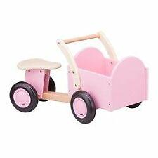 New Classic Toys - Drewniany rower z pojemnikiem cargo różowy