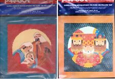 2 Christmas  Longstitch Kits Paragon The Nativity Three Kings Needlepoint 1981