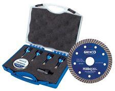 Mexco TDXCEL Tile Drill Bit Set w/ 115mm Porcelain Diamond Blade