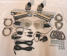 "2.5"" Electric Exhaust Cutout Kit W/ Remote Stainless Steel With Down Pipes SBC"