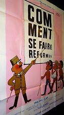 COMMENT SE FAIRE REFORMER ! herve morvan   affiche cinema dessin 1978