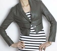 BCBG Runway Lead Moto Leather Crop Party Jacket NWT L LCW8B437