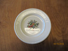 "Wedgwood England Edme CONWAY Set of 6 Bread Plates 6 3/8"" Floral Ctr"