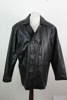 ANTONIO ROSSINI Black Leather Jacket size L