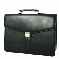 Falcon Synthetic Leather Briefcase in Black - RRP £39.99 - NEW - ## ON SALE ##