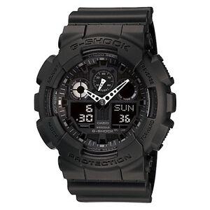 Casio G-Shock Mens Watch GA100-1A1 GA-100-1A1DR Digital-Analogue Black Free Post