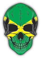 "Skull Flag Jamaica Car Bumper Sticker 4"" x 5"""