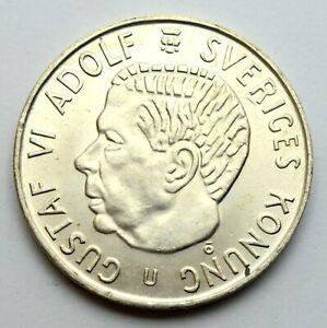 SWEDEN 5 KRONA 1971 LARGE BIG SILVER COIN