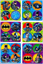 Batman Stickers Dots x 24 Loot Bag Favours Superhero Dot Birthday Party Reward