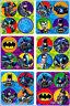 Batman Stickers Dots x 24 Loot Bag Favours Superhero Dot Birthday Party Reward