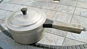 Vintage Miracle Maid 1-1/2 Qt Cast Aluminum Saucepan With Lid