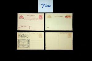 DAW Netherlands  Postal History  Postal Stationery Collection 2 sans Lot 700