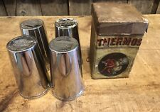 RARE Antique 1912 American Thermos Bottle 4 Stacking Cups Thermocup W/Box DEVIL
