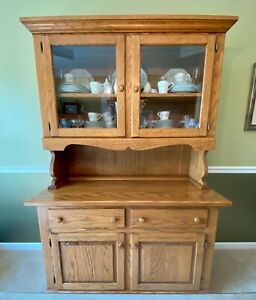 Dining Room Hutch, Solid Oak finished by Naked Furniture. Matches Table / Chairs